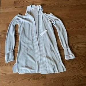 NWT cold shoulder open front cardigan